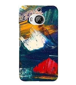 PrintVisa Color Block Prisma Pattern 3D Hard Polycarbonate Designer Back Case Cover for HTC ONE M9+