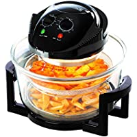 Daewoo Deluxe 17 Litre Black Halogen Air Fryer Oven with 7 Accessories and 60 Min Timer