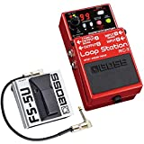 Boss RC-3 Looper Pédale + FS-5U Interrupteur de pied + câble patch Keepdrum 30 cm