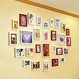 Yunfeng Wand-Fotorahmen bilderrahmen collagen Wand-Photo Frame herzförmigen Holzrahmen Kombination Wanddekoration Fotowand