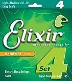Elixir Bass Guitar Sets Ultra-Thin Nanoweb Coating Long Scale, 4 String - Medium (0.045 - 0.105)