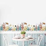 Jiaa Unterwasserwelt Wandaufkleber Für Kinder Schlafzimmer Waschbar und Abnehmbar Wohnzimmer Dekorative Wandbilder,Wie Zeigen,50 * 70 cm
