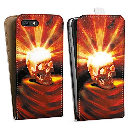 Apple iPhone X Silikon Hülle Case Schutzhülle Totenkopf Halloween Asche Downflip Tasche weiß
