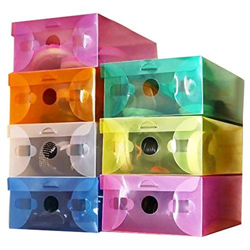 Ouken Flip Kunststoff Schuhkarton transparente Speicher Schuh-Box für zu Hause Faltbare klare Kunststoff aufgeräumten Organisator Fall -