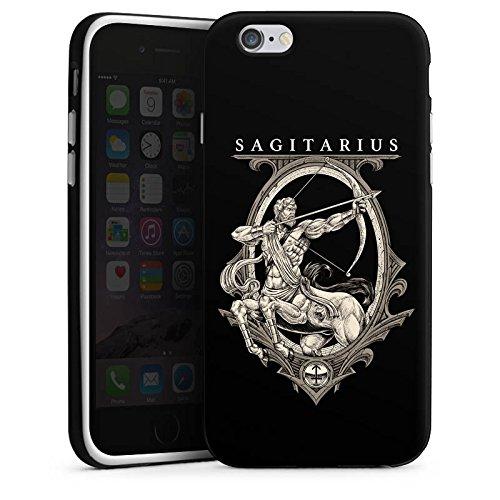 Apple iPhone X Silikon Hülle Case Schutzhülle Schütze Sternzeichen Astrologie Silikon Case schwarz / weiß