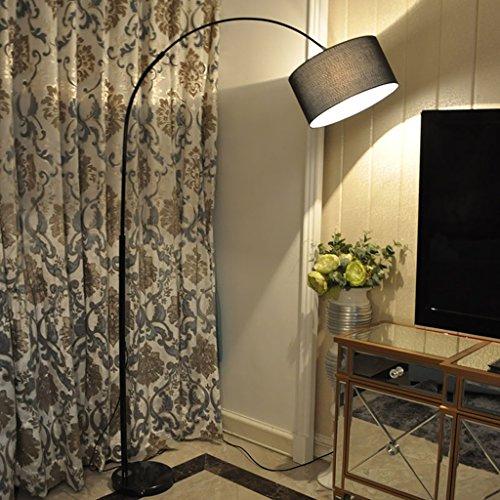 Hflyy Stehlampe Stehleuchte Fischen Lichter/Anwendbare Szene: Schlafzimmer, Wohnzimmer, Promobil, Zimmer, Kreativer Mahjong Vertical Lights [Energie Grade A +] stehlampe Wohnzimmer (Color : Black) -