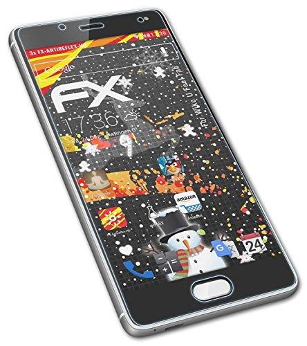 atFolix Schutzfolie kompatibel mit Wiko U Feel Fab Bildschirmschutzfolie, HD-Entspiegelung FX Folie (3X)