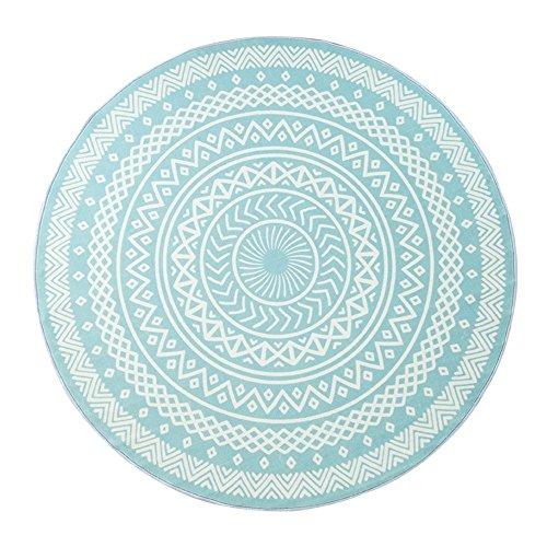 DIDIDD Revestimientos de estilo nórdico redondo elegantes y elegantes alfombras lavables a máquina no se descoloran alfombra no deformada,A-80Cm