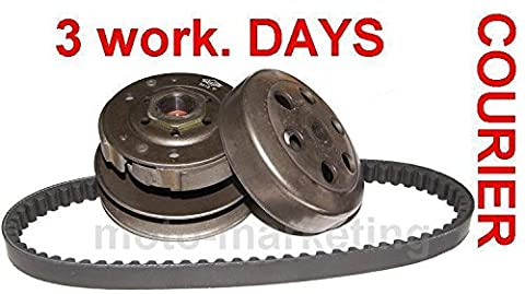 CLUTCH SHOES BELL ASSEMBLY + DRIVE BELT for LEXMOTO TOMMY MOLLY VALENCIA 50