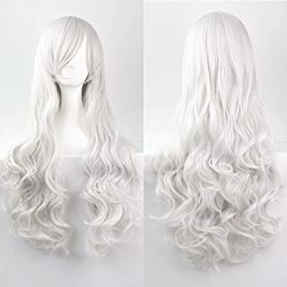 Women/Ladies 80cm SILVER WHITE LONG WIG COSPLAY/Costume/Anime/Party/Bangs Full Sexy Wig
