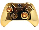 Golden Xbox One Rapid Fire Modded Controller Pro Finish 40 Mods for OD BO3, Advanced Warfare, Destiny, Ghosts Quickscope, Jitter, Drop Shot, Auto Aim Zombie, Jump Shot, Auto Sprint, Fast Reload, Much More by Xbox One