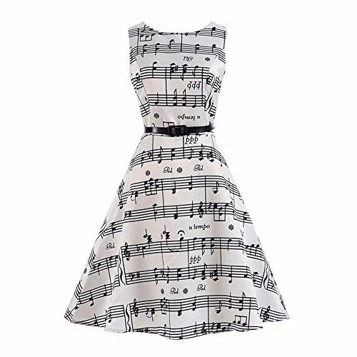 (Frashing Kleid Vintage Mädchen Ärmellose Elegante Kleider Mit Gürtel Frühling Sommer Blumendruck Prinzessin Kleid Hochzeitskleid 5-8T)