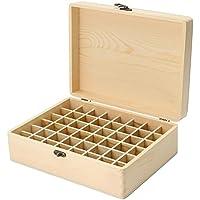 PROKTH 36–85 Schlitze für ätherische Öle, Holzkiste für ätherische Öle, ideal für 5-15 ml Flaschen, Holz, 48 Slot preisvergleich bei billige-tabletten.eu