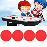 Alomejor Air Hockey Paddles 4 PCS Air Hockey su Ghiaccio Pucks Ricambio Air Hockey da Tavolo Rosso Pucks per Tavoli da Gioco Arcade Game(S(63mm))
