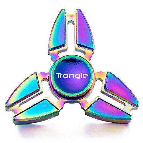 #SEGURO Fidget Spinner 2 bis 4 Min Spin Zeiten Dauerhaft Finger Spielzeug für Kinder und Erwachsene Tri-Spinner EDC Pocket Toy für Anti-Stress und Autismus#