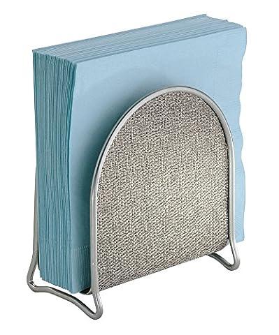 mDesign Porte-serviettes pour plans de travail de cuisine, tables - Métallisé