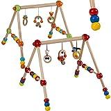 Spieltrapez Spielcenter Holzspielzeug Spielbogen HÖHENVERSTELLBAR in verschiedenen Farben (Bunt)