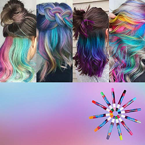 e680f504d5 ... Innoo Tech Mechas de Colores, Maquillaje Infantil, mechas Pelo niña, 12  Colores, ...