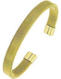 84764168d961 Le Concepteur Jewelbox ID Plaqué Noir Bracelet en acier inoxydable  chirurgical 316L pour garçon Homme · EUR 9,25 · fin en maille Plaqué or 18  K 316L en ...