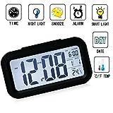 Wecker Digital, TKSTAR Großer HD Bildschirm Intelligente Nachtlicht Wecker Alarm Clock Für Kinder Jugendliche Einfache