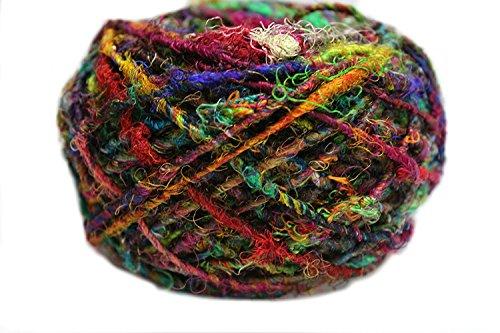 Knitsilk Recycled Sari Silk Yarn - Multicolor 100 Grams