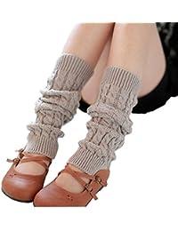 Butterme mode femmes dames d'hiver Jambières Bas tricot solides chaussettes longues Lady crochet Leggings meilleur cadeau de Noël