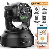 1080P Wlan IP Kamera Überwachungskamera Sicherheitskamera, Hund IP Cam für den Innenbereich mit Lan und WLAN / Wifi mit Großartige Anwendung für PC (12 IR LED Infrarot Nachtsicht, PIR Wärmesensor, Weitwinkel, SD Karte, Aufnahme, Bewegungserkennung, Audio) schwarz-YATWIN C24HX