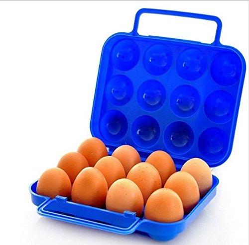 Vdk 1Outdoor Picknick tragbar Kunststoff Ei Box Anti Druck stoßfest Candy Farbe Ei-Halterung mit Griff Tablett Box