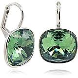 Ohrringe mit Kristallen von Swarovski® - Farbe Silber Erinite - Etui - Made in Germany