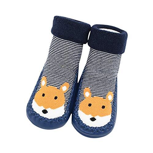 ❤️Amlaiworld Bébés garçons Filles Chaussettes de Plancher d'animal de Bande dessinée Chaussettes antidérapantes pour bébé 0-24Mois
