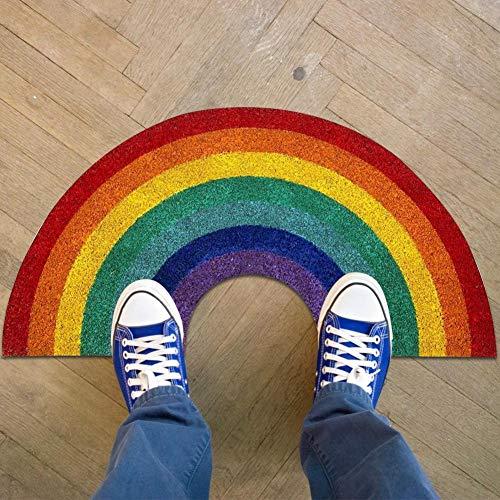 Rainbow Doormat, Sábana Rainbow De Algodón Con Absorción De Agua, Alfombrilla Rainbow Suave Y Hermosa, Puerta Delantera Interior Y Exterior Alfombrilla Rainbow Dust Para El Hogar Alfombra Fotografía A