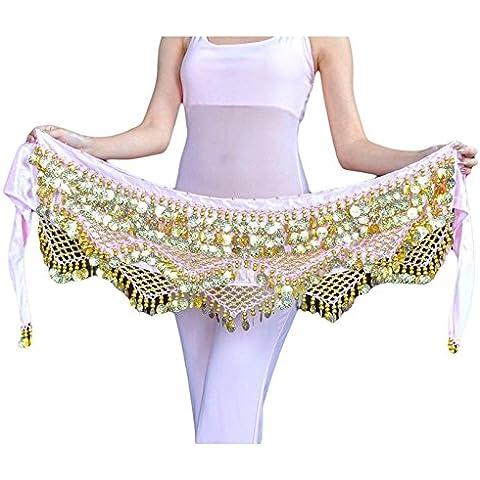 YiJee Cintura In Sciarpa per Danza del Ventre Orientale 320 Monete (Sciarpa Danza Del Ventre Costume Cintura)