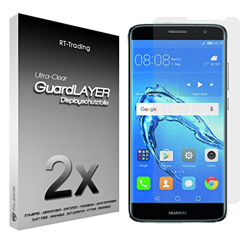 2x Huawei Nova Plus - Bildschirm Schutzfolie Klar Folie Schutz Bildschirm Screen Protector Bildschirmfolie - RT-Trading