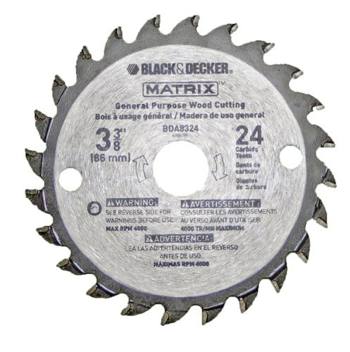Black & Decker BDCMTTS Matrix Saw Replacement 3-3/8 24t Carbide Blade # 90585148 by BLACK+DECKER