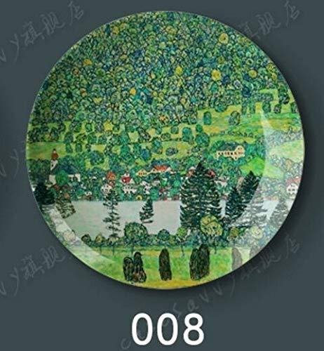 Fine-X Beso Abrazo Klimt Placa Colgante Decorativa