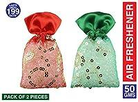 Miracle Perfume Potli. Red Rose & Spanish Touch Fragrance. Air Freshener (50g, Set of 2pcs)