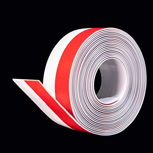 Selbstklebende Tür Türdichtung - fowong Dichtungsstreifen Zugluftstopper gegen Insekt Ersatzdichtung Wetterfest Blocker Fenster Schalldichtung Silikon Türstopper 3cm(B) X 6M(L) (Weiß)