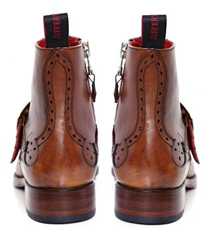 Jeffery-West Hommes Dague Dexter bottes en cuir Acajou Acajou