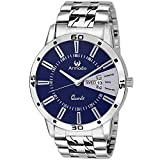 #10: Armado AR-096 Exclusive Day & Date Display Analog Blue Dial Stainless Steel Men's Watch