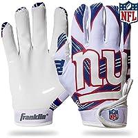 قفازات NFL New York Giants للاستقبال للشباب، أبيض، مقاس متوسط