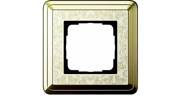 Gira Cadre 0211673 1 fois Classix Laiton//Blanc