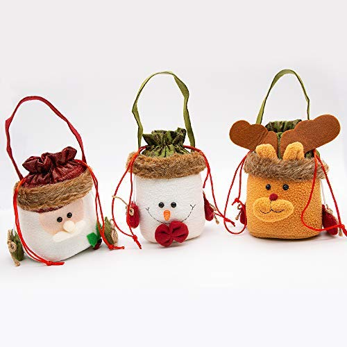 Specool 3 confezioni di sacchetti di caramelle di natale, anta snowman elk style lovely treat bags bambini lover best wedding party holiday new year holiday