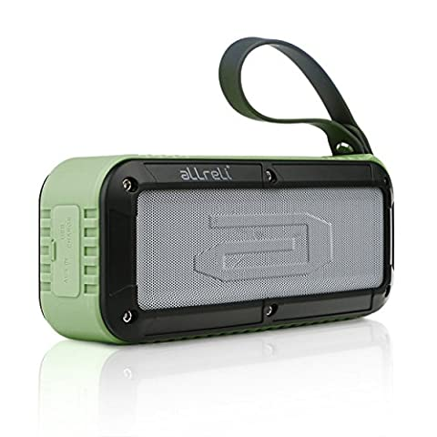aLLreLi 10W Waterproof Bluetooth Speakers with Enhanced Bass, 8 Hours Playtime for Outdoors, Cycling, Camping & Shower (Army Green)