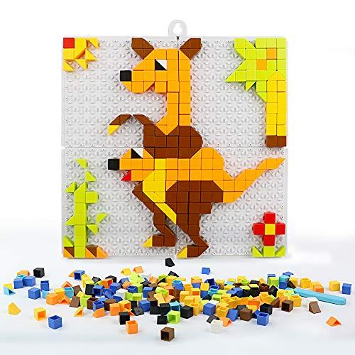 Nuheby Mosaico Bambini Mattoncini Costruzioni Gioco Puzzle Pegboard Giocattolo Regalo Ragazza Ragazzo 2 3 4 5 6 Anni ,420 Pezzi