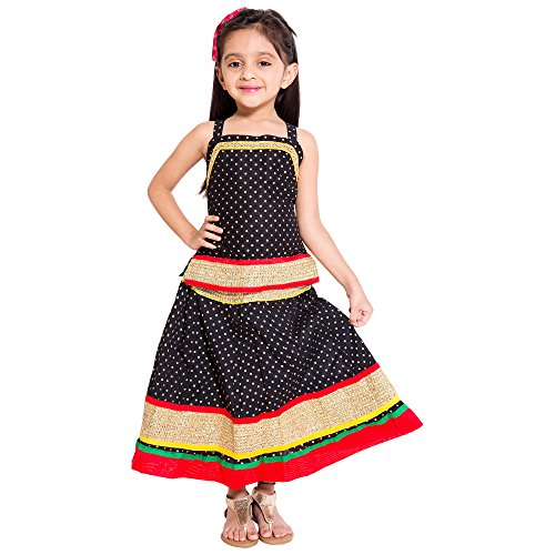 Archiecs Creations Beautiful Lehanga Choli With chaniya choli Skirt Set For Girls-KID103-3_Black_6...