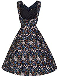 Lindy Bop 'Ophelia' Millésime 1950's Imprimé Fleuri Swing Dress