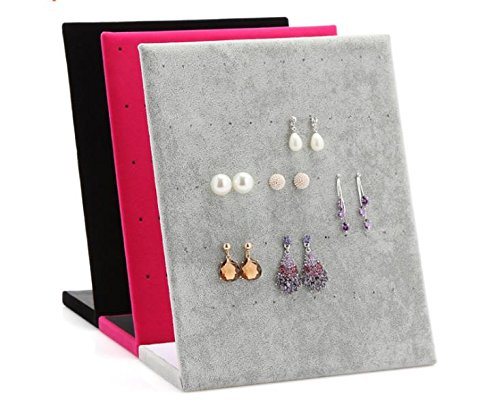 Chytaii Earring Ear Studs Display Stand Holder Orgniser L-Shaped Earring Storage and Display Board Showing Showcase Rack for 30Pairs