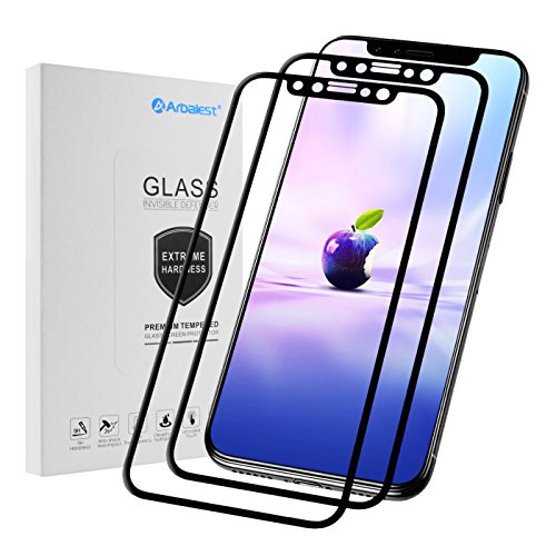 Cristal Vidrio Templado para iPhone X,[2-Pack] Arbalest [Garantía de por Vida] Protector...