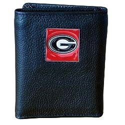 Georgia Bulldogs Genuine Leather Tri-fold Wallet