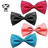 [Gesponsert]EROSPA® Fliege Hunde-Halsband Katze Welpe Haustiere Krawatte Bowknot Halsschleife 4 Farben Pink Schwarz Blau Magenta (Magenta)